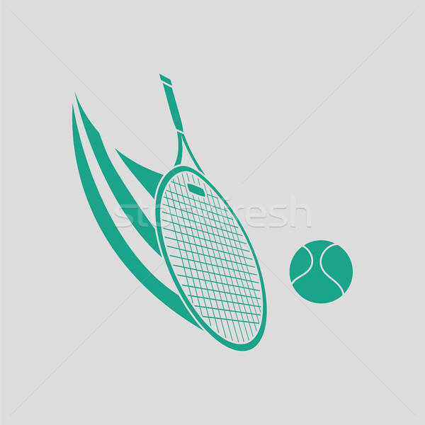 Tennis racket hitting a ball icon Stock photo © angelp