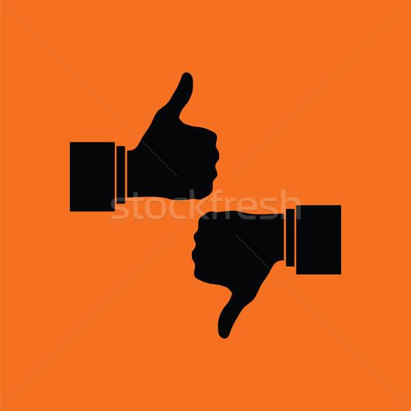 Como antipatia ícone laranja preto escritório Foto stock © angelp