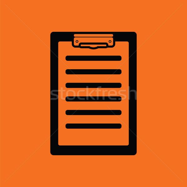 Ziekte geschiedenis icon oranje zwarte gezondheid Stockfoto © angelp
