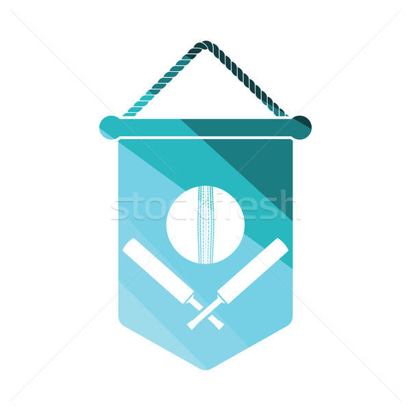 Cricket shield emblem icon Stock photo © angelp