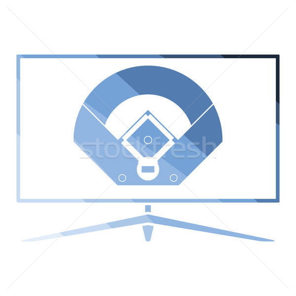 Beisebol tv tradução ícone cor projeto Foto stock © angelp