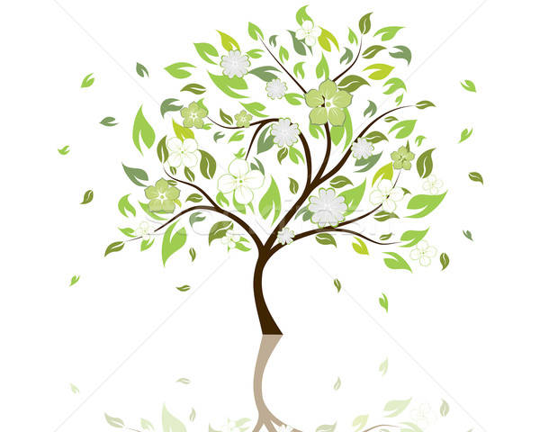 Как сделать силуэт дерева 194