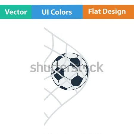 Foto stock: Projeto · ícone · futebol · bola · portão · com
