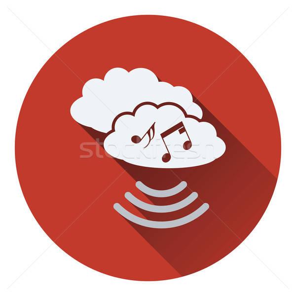 Muzyki chmura icon niebo projektu sieci Chmura Zdjęcia stock © angelp