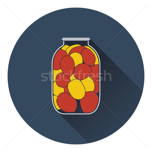 Canned tomatoes icon Stock photo © angelp