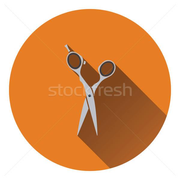 Hair scissors icon Stock photo © angelp