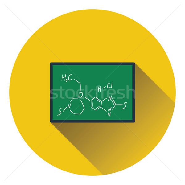 Ikona chemia wzoru klasie tablicy kolor Zdjęcia stock © angelp