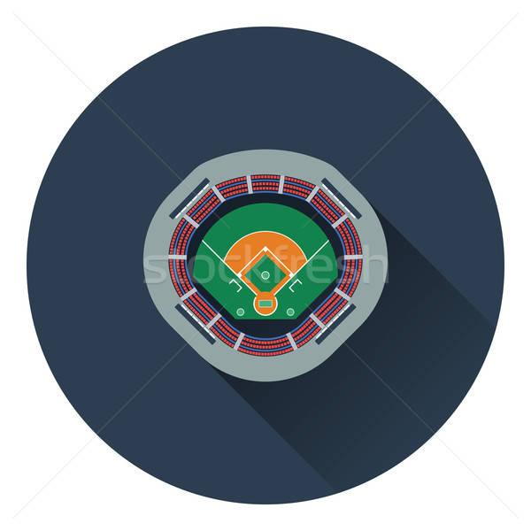 Beysbol stadyum ikon renk dizayn Bina Stok fotoğraf © angelp