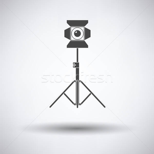 Fase projector icon grijs film ontwerp Stockfoto © angelp