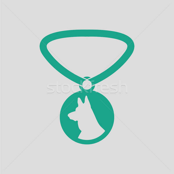 Dog medal icon Stock photo © angelp