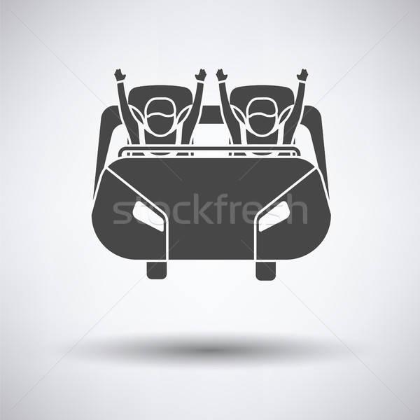 Montanha-russa carrinho ícone cinza diversão menino Foto stock © angelp