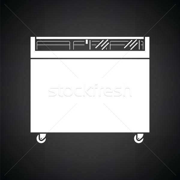 Supermarket mobile freezer icon Stock photo © angelp