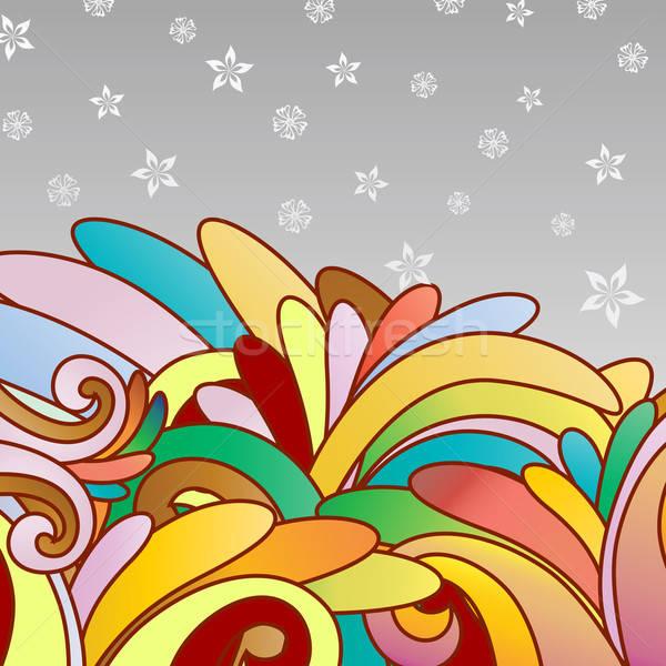 Soyut vektör dizayn çiçekler sanat Stok fotoğraf © angelp