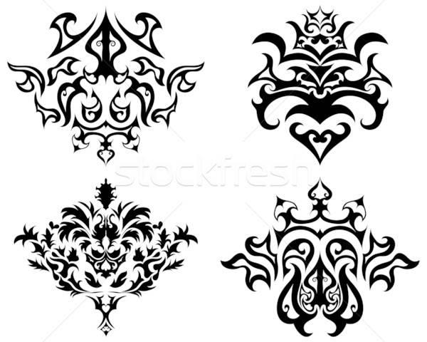 商业照片 / 矢量图: 哥特式 · 徽 · 集 · 抽象 · 设计 · 花卉