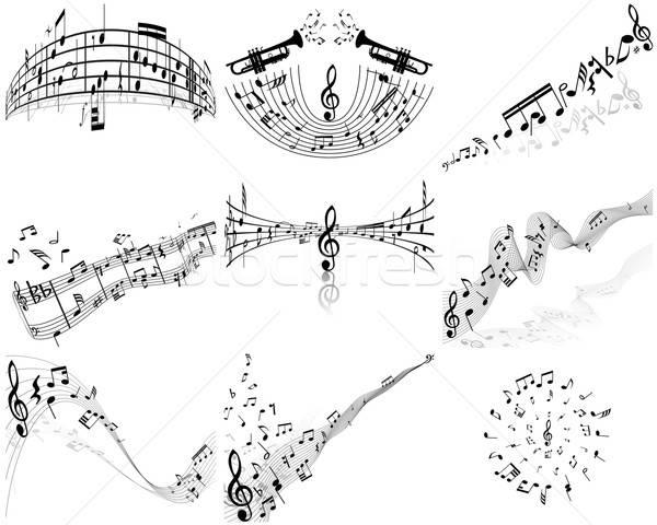Note set nove vettore note musicali personale Foto d'archivio © angelp