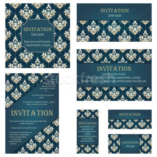 Set of Invitation Cards Stock photo © angelp