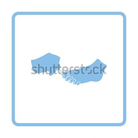 педикюр икона кнопки дизайна девушки Сток-фото © angelp