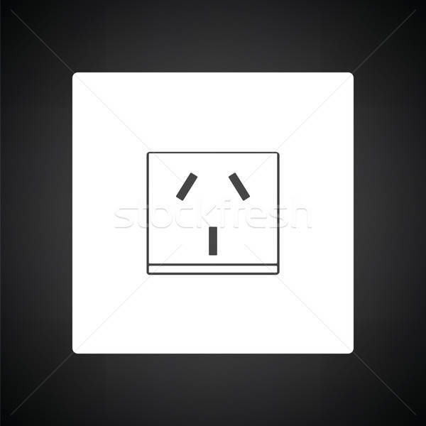 China electrical socket icon Stock photo © angelp