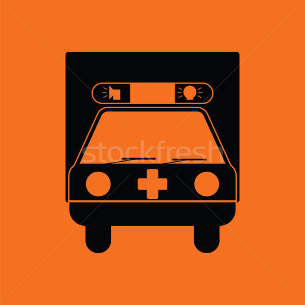 Ambulance auto icon oranje zwarte arts Stockfoto © angelp