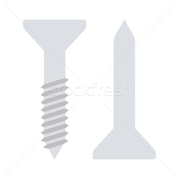 Symbol Schraube Nagel Farbe Design Arbeit Stock foto © angelp