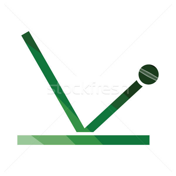 крикет мяча траектория икона цвета дизайна Сток-фото © angelp