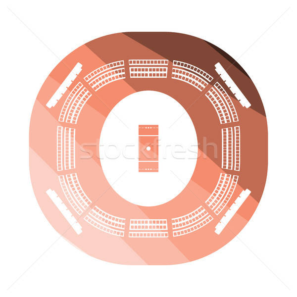 Kriket stadyum ikon renk dizayn spor Stok fotoğraf © angelp