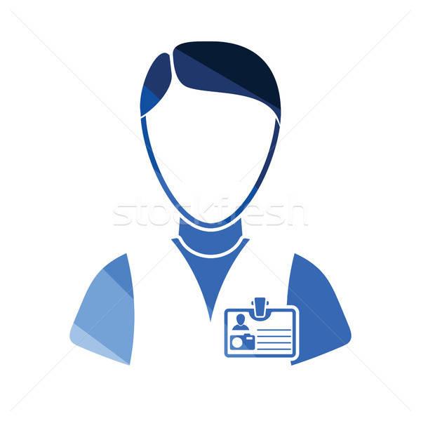 Ikon fotós szín terv arc felirat Stock fotó © angelp
