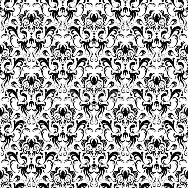 Damast Vektor Muster einfach Stock foto © angelp