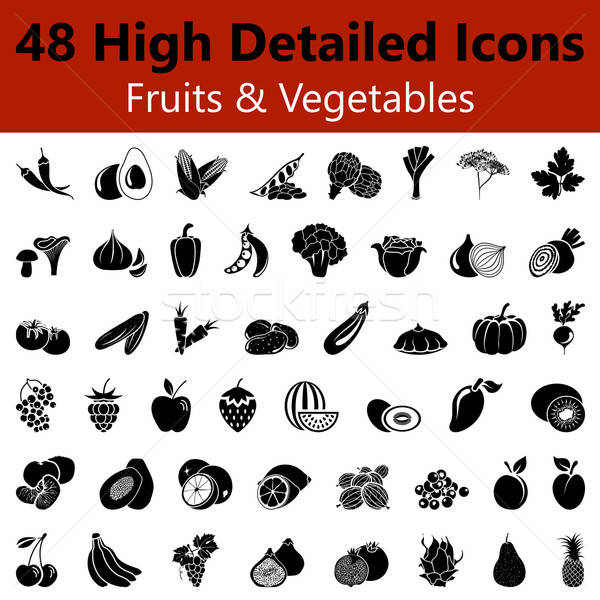 Fruits and Vegetables Smooth Icons Stock photo © angelp