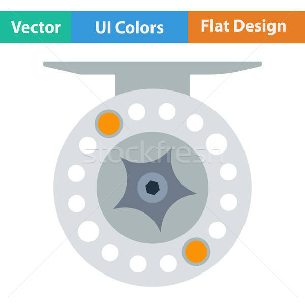 Design icône pêche bobine ui couleurs Photo stock © angelp