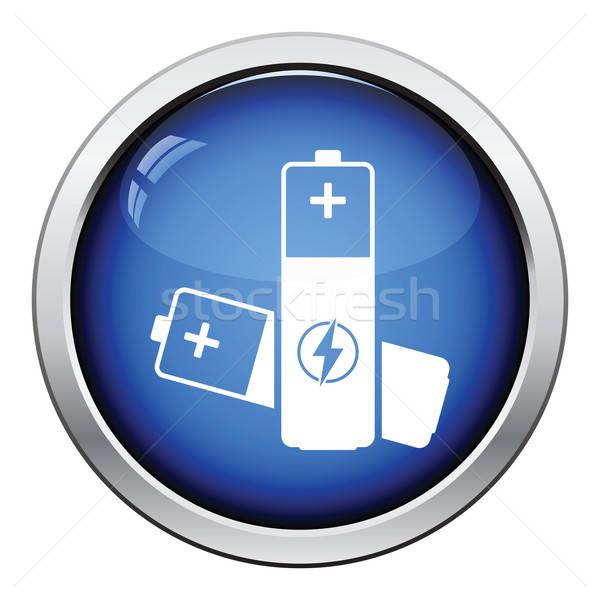 Elétrico bateria ícone botão projeto Foto stock © angelp
