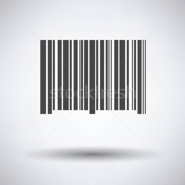 バーコード アイコン グレー ビジネス ショップ 袋 ストックフォト © angelp