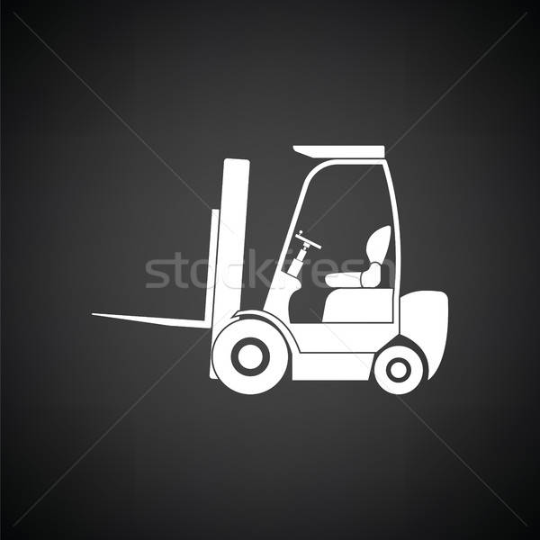 Warehouse forklift icon Stock photo © angelp