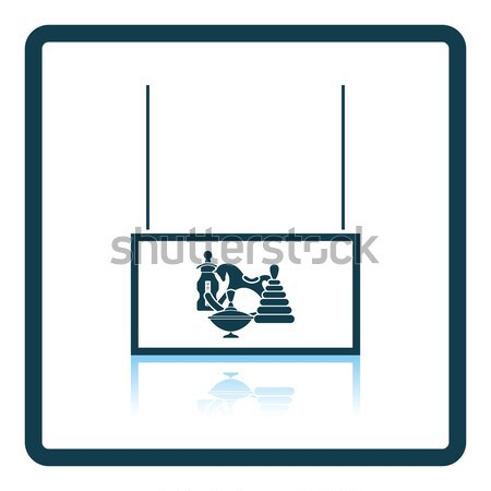 Drób rynku dział ikona szary podpisania Zdjęcia stock © angelp