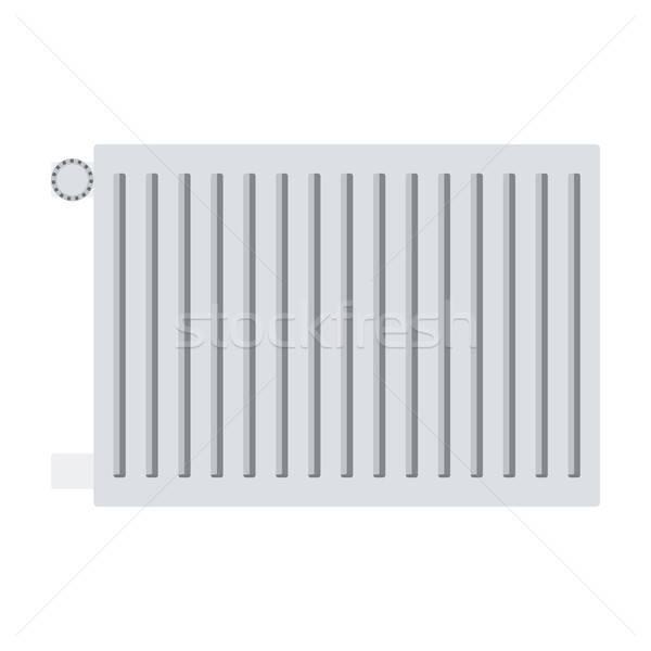 ícone radiador cor projeto teia inverno Foto stock © angelp