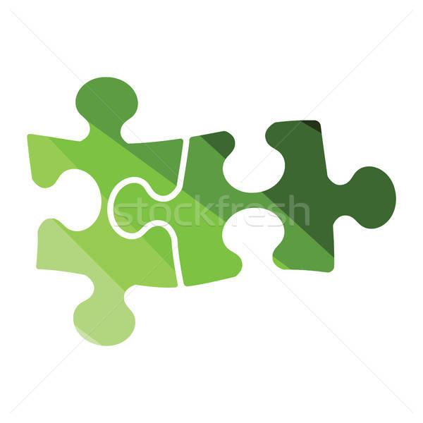 Puzzle döntés ikon szín terv iroda Stock fotó © angelp