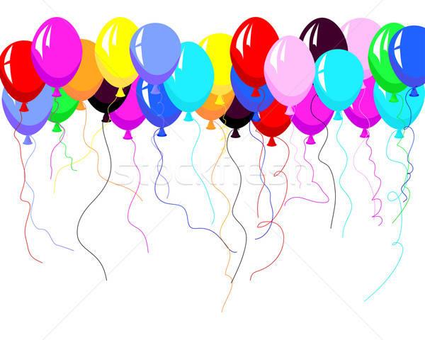 Ballonnen mooie kleur ballon lucht partij Stockfoto © angelp
