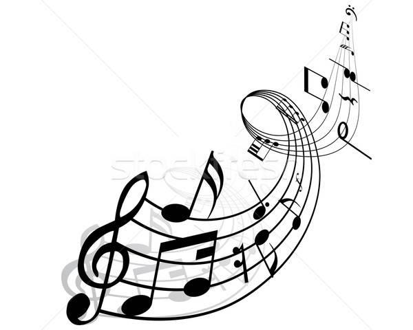 跳舞的音符简笔画