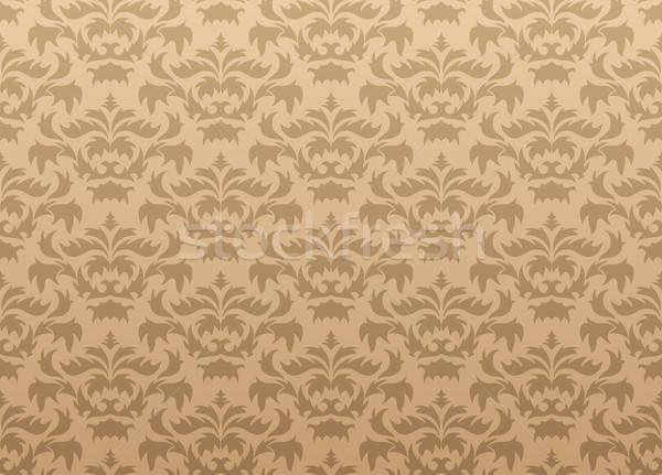 シームレス ダマスク織 抽象的な ベクトル デザイン 葉 ストックフォト © angelp