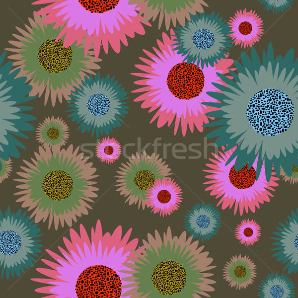 Kwiatowy bezszwowy kwiat wektora projektu streszczenie Zdjęcia stock © angelp