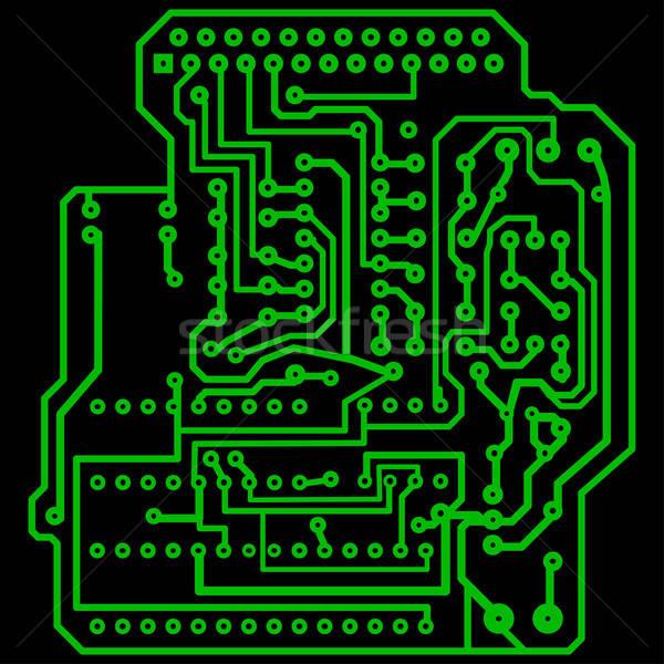 Elétrico elétrico projeto abstrato tecnologia fundo Foto stock © angelp
