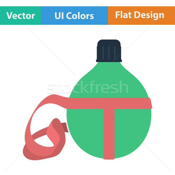 Flat design icon of touristic flask  Stock photo © angelp