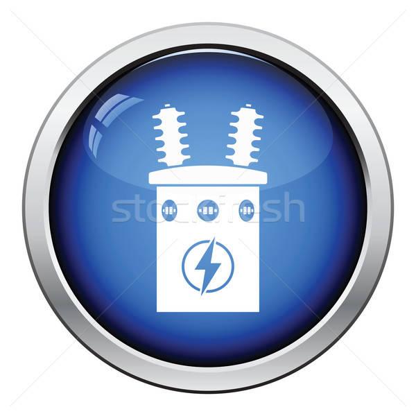 Elétrico transformador ícone botão projeto Foto stock © angelp