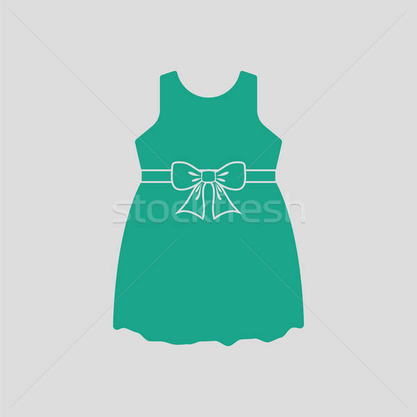 Baby girl dress icon Stock photo © angelp