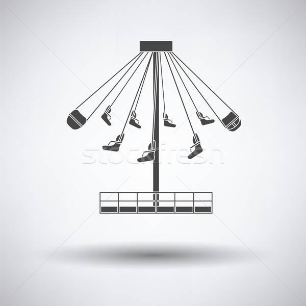 Nagy körhinta ikon szürke Stock fotó © angelp