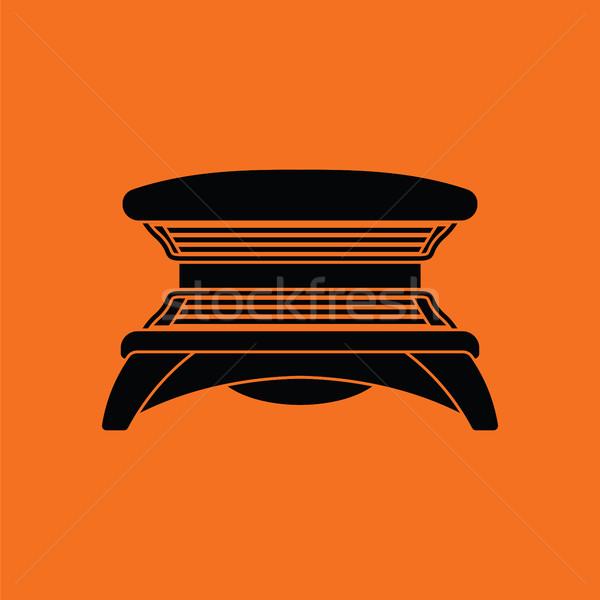 солярий икона оранжевый черный моде солнце Сток-фото © angelp