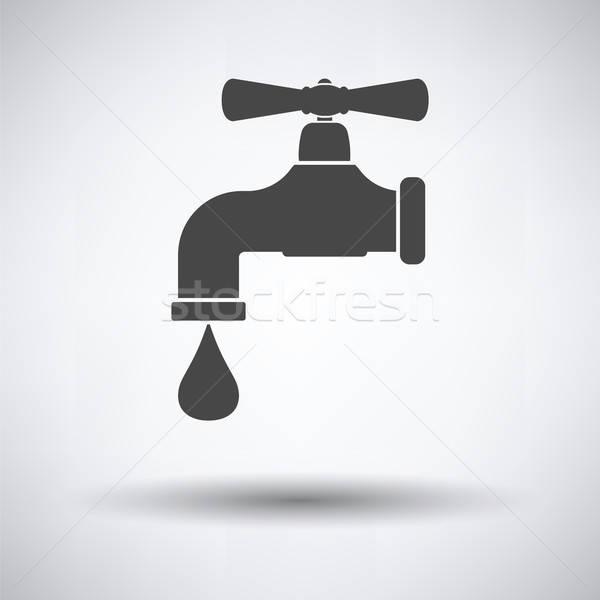 Ikon cső szelep szürke üzlet víz Stock fotó © angelp