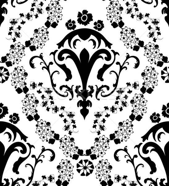 Sin costura damasco patrón eps 10 Foto stock © angelp