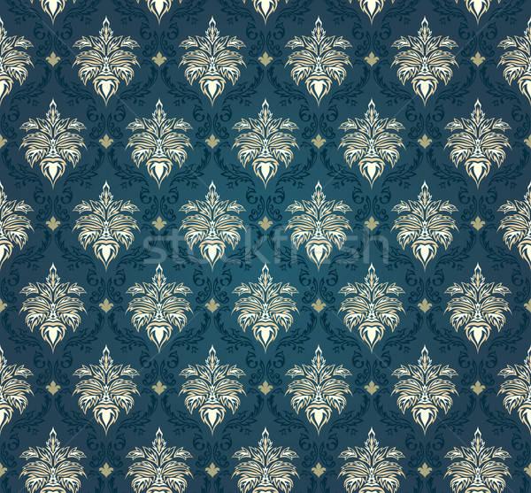 Naadloos damast patroon blad achtergrond Stockfoto © angelp