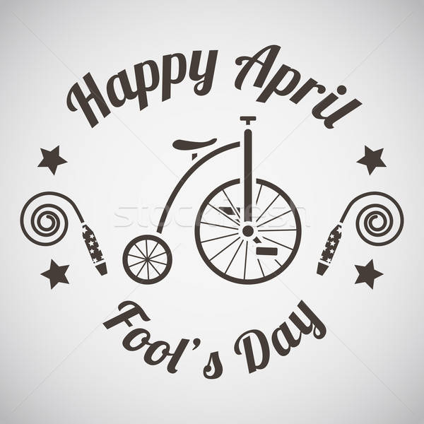 Dia emblema festa feliz bicicleta diversão Foto stock © angelp
